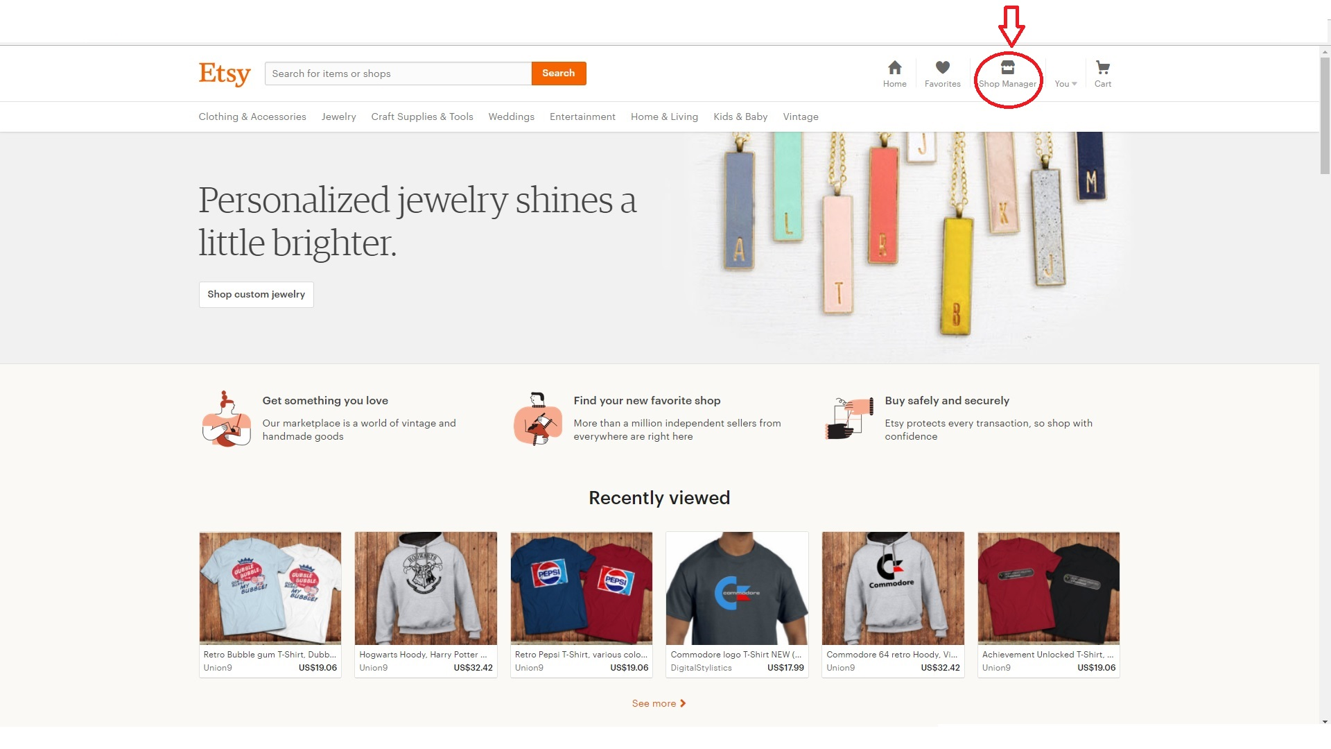 Etsy Shop Manage